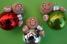 Personalized Clay Gingerbread Bulb by ClayCutiesbySabrina on Etsy, $10.00