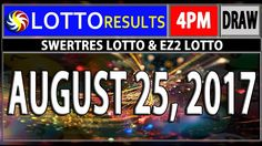 Lotto Results, Lottery Tips, August 25, Youtube, Youtubers, Youtube Movies