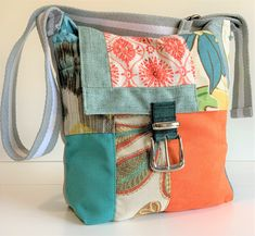 Handmade Handbags is a unique, one of a kind bag, in a gorgeous assortment of prints and solid fabric samples and remnants that create a neutral yet versatile c Handmade Purses, Handmade Handbags, Handmade Clothes, Hobo Purses, Purses And Handbags, Fabric Handbags, Leather Hobo Handbags, Cross Body Handbags, Hippie Bags