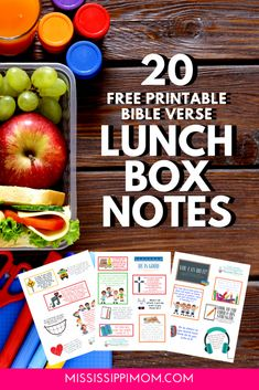 20 FREE Printable Bible Verse Lunch Box Notes | Encouragement for Your Kids! | Verses For Kids, Bible Verses For Women, Printable Bible Verses, Kids Bible, Christian Encouragement, Words Of Encouragement, Lunch Box Notes, Christian Parenting, Christian Marriage
