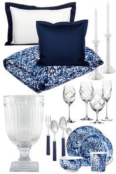 How to decorate your home with the blue and white Ralph Lauren Signature Look. Click to read the post or pin and save for later.