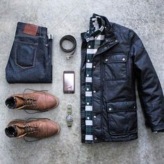 Outfit grid – Warm jacket – Joel Miller - Touching and Emotional Image Fashion Mode, Look Fashion, Winter Fashion, Mens Fashion, Fashion News, Mode Outfits, Casual Outfits, Men Casual, Fashion Outfits