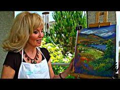 Artist Louise Lambert demonstrates use of pastels