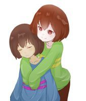 Frisk and Chara by gayarados