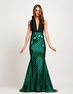 Magical Mermaid Halter Style Maxi Costume Dress