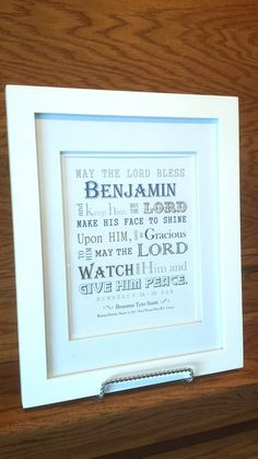 Baptism Gift Boy Personalized Scripture Wall Art Nursery Decor
