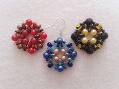 Korálky-DIY: Kulatý čtverec :: Zdobenicko Drop Earrings, Jewelry, Bijoux, Drop Earring, Jewlery, Jewels, Jewelery, Jewerly, Fine Jewelry