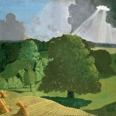 John Nash R. A Gloucestershire Landscape. From 1918 to Nash lived in Gerrard's Cross, Buckinghamshire, making trips in the summer to the Chiltern Hills and Gloucestershire. British Artist, Cool Landscapes, Landscape Paintings, Landscape Artist, British Art, Art, Art Uk, Landscape Art, Landscape Drawings