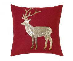 Sequin Stag Decorative Scatter Cushion - Add a touch of festive whimsy to your sofa with Belfield's beautiful range of Christmas cushions. Scatter Cushions, Decorative Cushions, Christmas Cushions, Cushion Covers, Reindeer, Moose Art, Sequins, Pattern, Animals