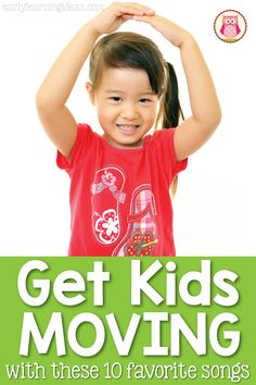 Looking for new movement songs for your kids? Here are 10 great movement songs for kids. Hopefully, you will find a few new ones to try