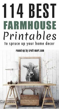 Free Farmhouse Printables Fixer-Upper Style One of the quickest ways to add farmhouse style and flavor to any interior is to decorate with free rustic wall art prin. Rustic Wall Art, Rustic Walls, Rustic Artwork, Country Wall Art, French Rustic Decor, Rustic Kitchen Wall Decor, Western Kitchen, Rustic Chic, Rustic Modern