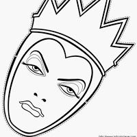 Crafts - The angry queen Halloween Doodle, Disney Halloween, Halloween Party, Villains Party, Disney Villains, Printable Masks, Free Printables, Descendants Coloring Pages, Mascaras Halloween