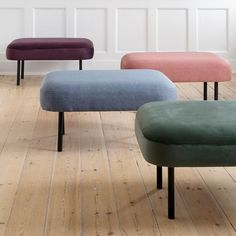 A furniture piece with many possibilities, according to the sisters. Luxurious pouffes in velour and textile, price per item DKK 548,00 / EUR 77,00 / ISK 12618 / NOK 824,00 / GBP 69,80 / SEK 779,00 / CHF 94,00 / FO-DKK 642,01 / JPY 8585