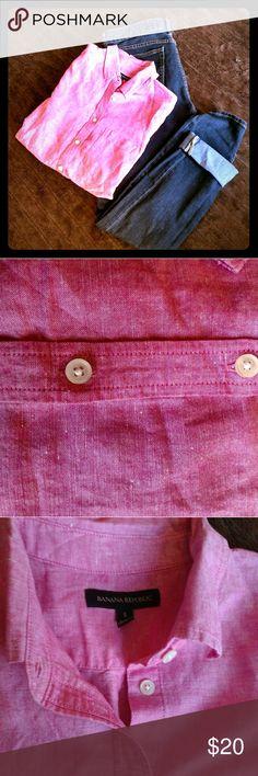 Banana Republic bottom down NWOT Banana Republic pink button down. Banana Republic Tops Button Down Shirts