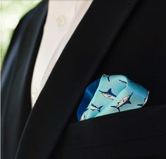 A fun, printed pocket square.