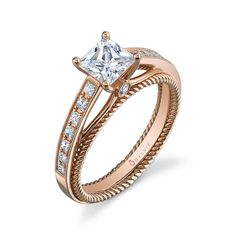 Probably the prettiest wedding ring I have ever seen. Rose gold, unf.