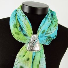 Polished Silver Slide Scarf Jewelry