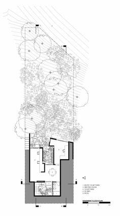 Redwood House,Basement floor plan
