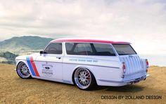 Volvo Amazon / 122 wagon - cool artwork...