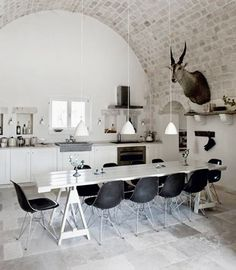 Nice brick arch! And monochrome <3 with hopefully faux deer feature