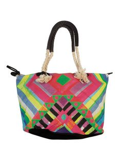 This fun oversized bag features a zip enclosure with a zip pocket inside.  Perfect to pack a beach towel a5a88dd922dec