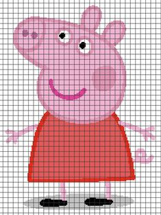 Diy Crafts - Peppa Pig (Chart/Graph AND Row-by-Row Written Crochet Instructions) – 02 Intarsia Knitting, Jumper Knitting Pattern, Knitting Charts, Baby Knitting Patterns, Cross Stitch Charts, Cross Stitch Designs, Cross Stitch Patterns, Crochet Pixel, Crochet Chart