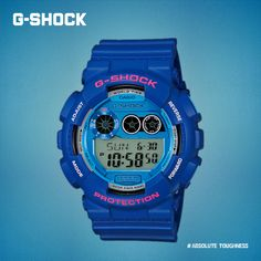Showing off g shock gd 120ts 2 that comes in two tone blue colors