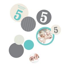 Kids Party Decorations -- Numbers and Pinstripes. Create colorful cut-out kids party decorations that coordinate with your party theme and use them to decorate in so many ways! #peartreegreetings #kidspartyideas