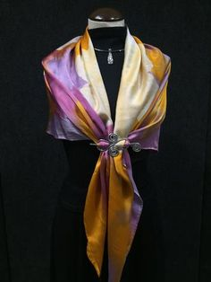 Butternut Dreams - Hand Painted Silk Scarf / Wrap