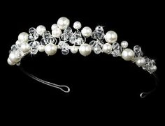 Ivory Pearl & CrystalsWedding Bridal Tiara Melissa Kay Collection. $65.00
