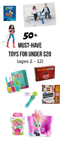 This could be one of the most useful pages you've come across on the internet for Christmas and the rest of the year!... Once your kids are a certain age, you find yourself spending a good number of your weekends at other kids' birthday parties... that can get expensive! Wouldn't it be great to have on hand a list of toys that the birthday boy or girl will truly love AND will cost you less than $20 a pop? #toptoys #toygiftguide #besttoys #toysfor1yearolds #toysfor2yearolds…