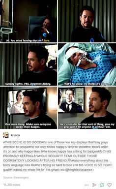 TONY STARK CARES. He does.<<<He has a heart though sometimes he sure doesn't act like it...