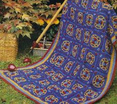 Looking for a fun and colorful free crochet afghan pattern? This kaleidoscope afghan is a unique design that will blow your mind. Choose your favorite contrasting colors for an amazing outcome. The cluster stitch is used with worsted weight yarn.