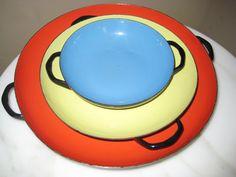 Vintage Enamel Set of Bowls Made in by MarcelandMargolis on Etsy