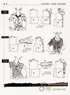Simulation elements of women's clothing. Comments: LiveInternet - Russian Service Online Diaries- many ideas! Sewing Basics, Sewing Hacks, Sewing Tutorials, Sewing Projects, Barbie Patterns, Sewing Patterns, Sewing Clothes, Diy Clothes, Make Your Own Dress