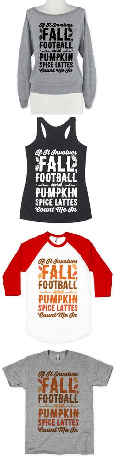 Fall is here, time for football, pumpkin spice lattes, sweaters, studying, halloween, leaves and everything autumn. If you love everything about fall, show your love with these cute football fall designs.