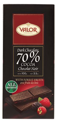 Dark chocolate with cocoa content and forest fruits Spanish Chocolate, Forest Fruits, Chocolate Lovers, Gourmet Recipes, Raspberry, Orange, Dark