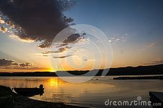 Photo about A perfect sunset to a beautiful day at the lake. The waters were calm & peaceful at the end of the day. Image of waters, endofday, lake - 46178353 End Of Days, Photo Link, Beautiful Day, Vectors, Sign, Stock Photos, Sunset, Water, Free