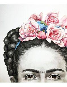 Items similar to Giclee Print Frida on Etsy Frida Kahlo Artwork, Frida Kahlo Portraits, Kahlo Paintings, Frida Art, Art And Illustration, Diego Rivera, Mexican Art, Wedding Humor, Portrait Art