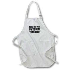 3dRose Trust me Im a Physical Therapist. Therapy work humor. Funny job gift, Medium Length Apron, 22 by 24-inch, With Pouch Pockets