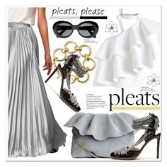 """Give Me Pleats, Please!"" by spenderellastyle ❤ liked on Polyvore featuring Chicwish, Acne Studios, Ashley Pittman, Altuzarra and pleats"