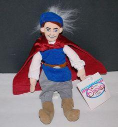 "Disney Store Prince Charming Bean Bag Plush Snow White 10"" New Stuffed Toy"