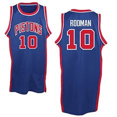 27593872679 Mens Dennis Rodman 10 Detroit Pistons Royal Blue Classics Jersey XL ** Want  additional info