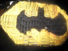 plastic canvas bat symbol