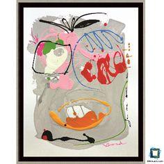 J'me sens au top! : acrylique et glycéro sur papier blanc cartonné de format 50x65cm - pièce unique - Oeuvre de Valérie Brand. Encadrée par www.leboncadre.com avec une caisse américaine noir et filet argenté de format intérieur 50,5 x 65,5 cm. Prix de l'oeuvre : non indiqué. Prix du cadre : 86,40€