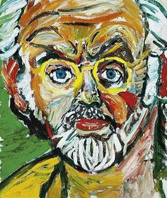 John Bratby, undated (British, 1928 - 1992) bio British Artists, English Artists, John Bratby, Cambridge Igcse, A Level Art, Two Faces, Art Boards, My Arts, Artsy