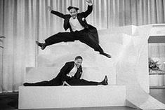 The Nicholas Brothers in Stormy Weather's stair dance. Harold the younger brother was married to Dorothy Dandridge from 1942-51.