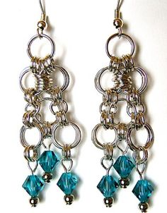 Caribbean Dream Drop Earrings | AllFreeJewelryMaking.com
