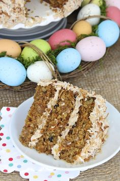 Coconut Carrot Cake with Cinnamon Cream Cheese Frosting