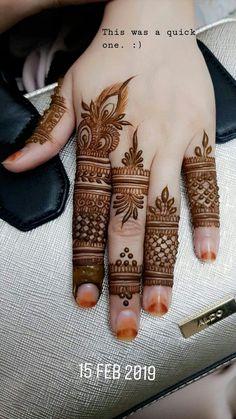 Henna Hand Designs, Dulhan Mehndi Designs, Simple Mehndi Designs Fingers, Finger Mehendi Designs, Henna Tattoo Designs Simple, Latest Bridal Mehndi Designs, Full Hand Mehndi Designs, Mehndi Designs For Beginners, New Bridal Mehndi Designs